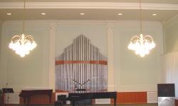 Полноразмерная модель органа в музыкальной школе г.Лангепас